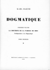Karl Barth : Dogmatique