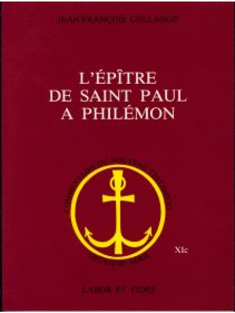 Epître de saint Paul à Philémon