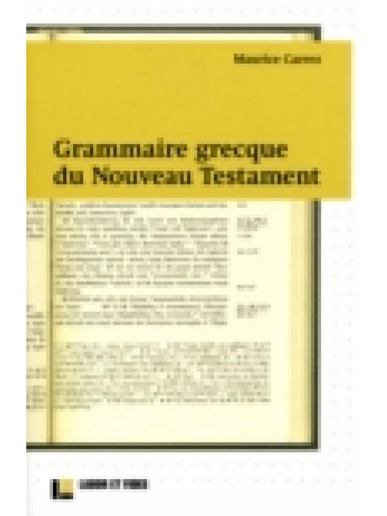 Grammaire grecque du Nouveau Testament