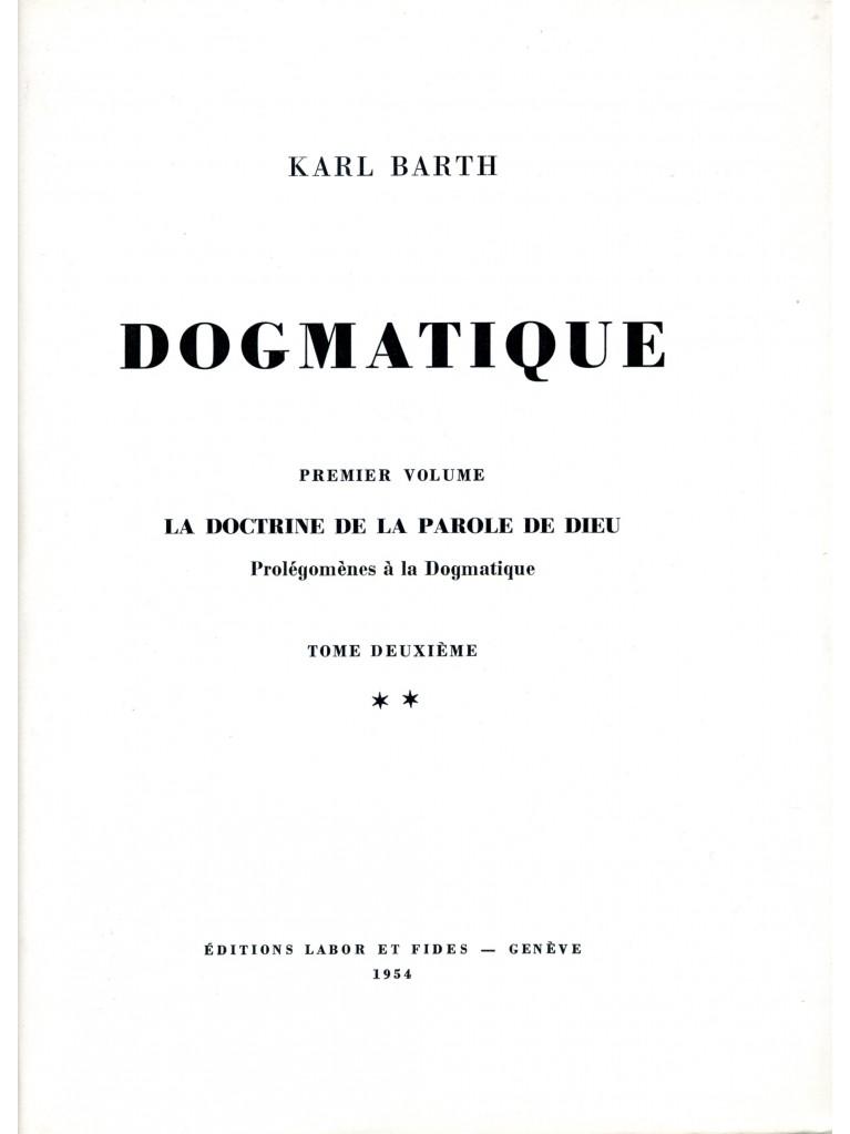 Dogmatique, tome 04 (relié)