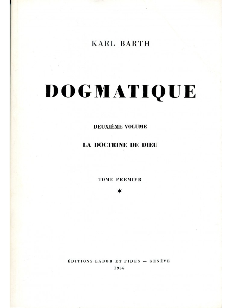 Dogmatique, tome 06 (broché)