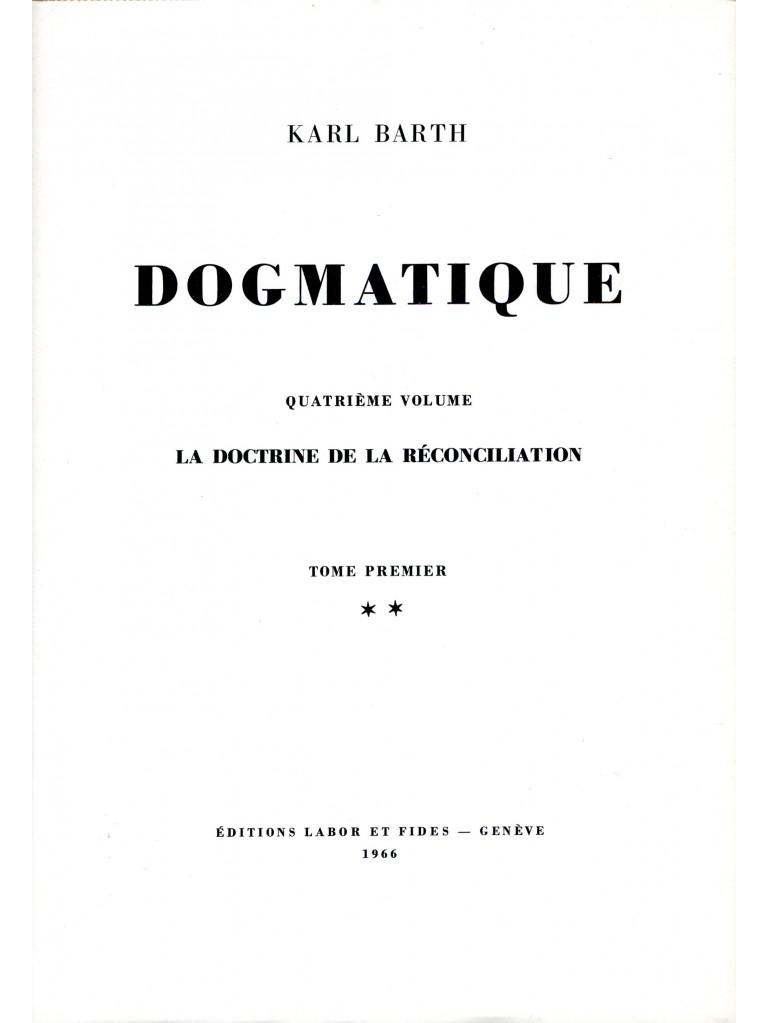 Dogmatique, tome 18 (relié)