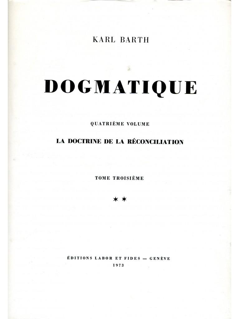 Dogmatique, tome 24 (relié)
