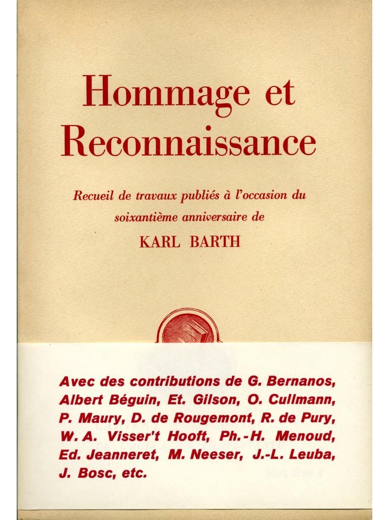 Hommage et reconnaissance à Karl Barth