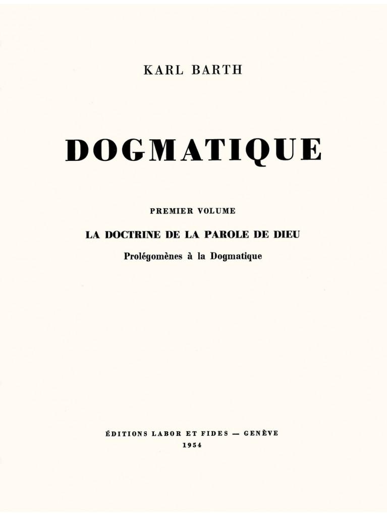 Dogmatique, tome 03 (broché) – Titre imprimé à la demande