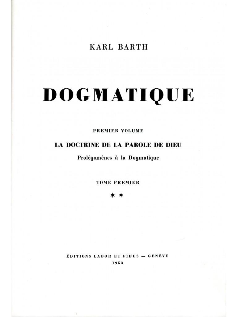 Dogmatique, tome 02 (relié) - épuisé