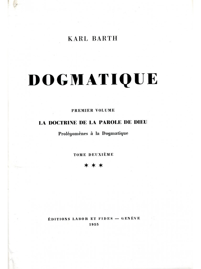 Dogmatique, tome 05 (relié) - épuisé