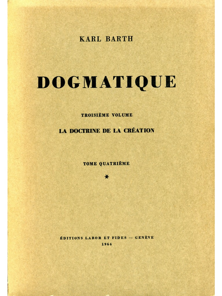 Dogmatique, tome 15 (broché)