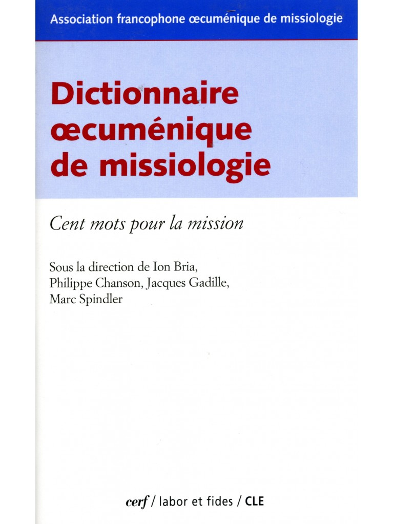 Dictionnaire œcuménique de missiologie (épuisé)