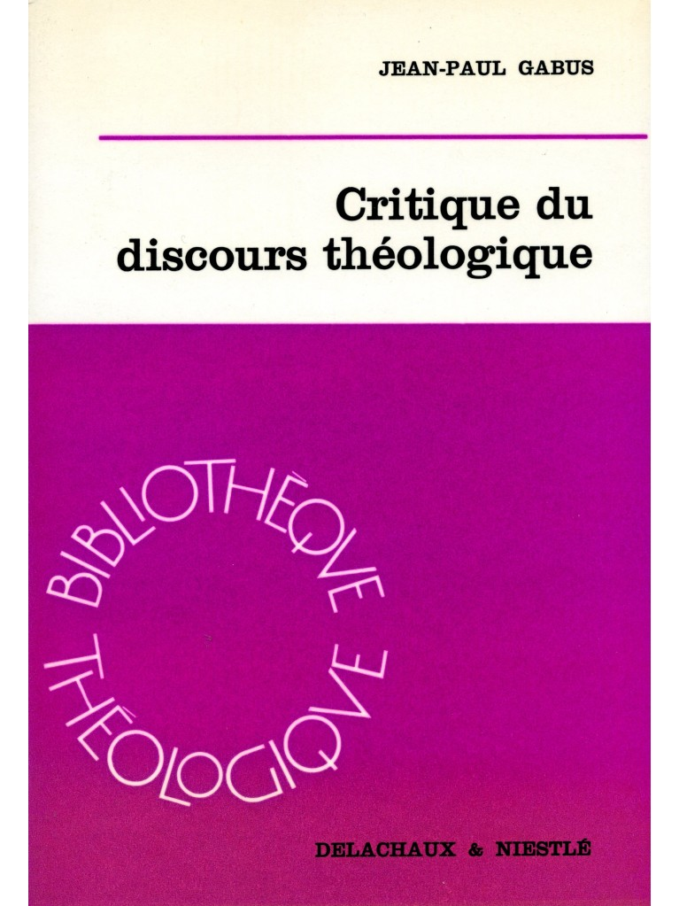 Critique du discours théologique