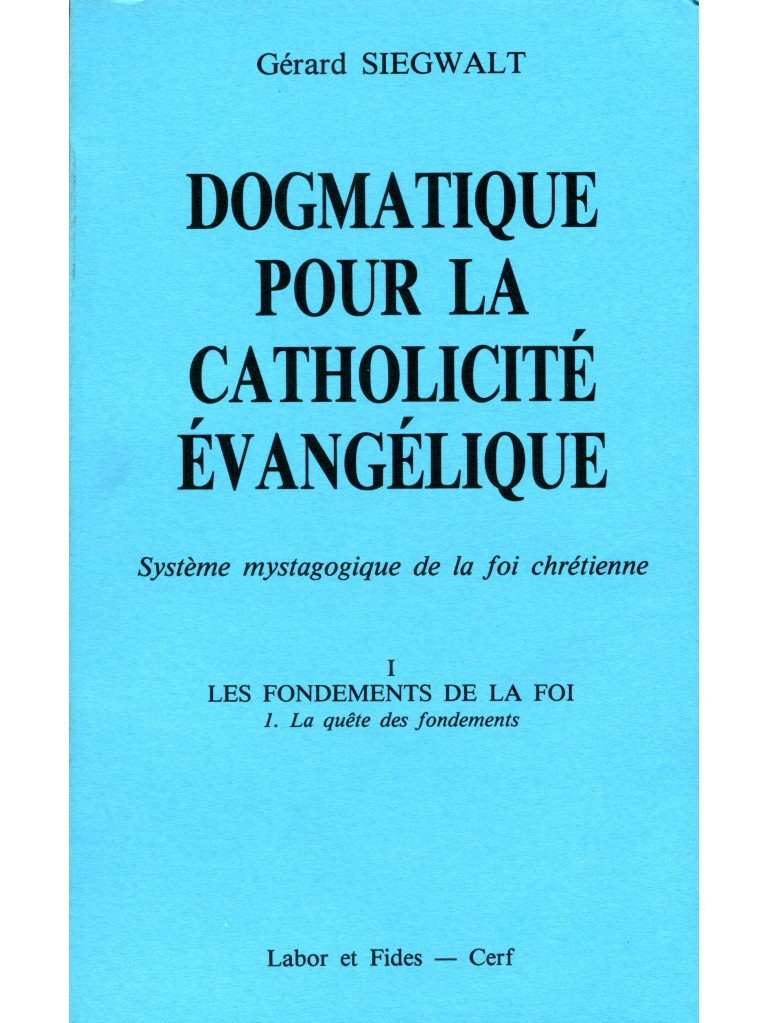 Dogmatique I/1 pour la catholicité évangélique