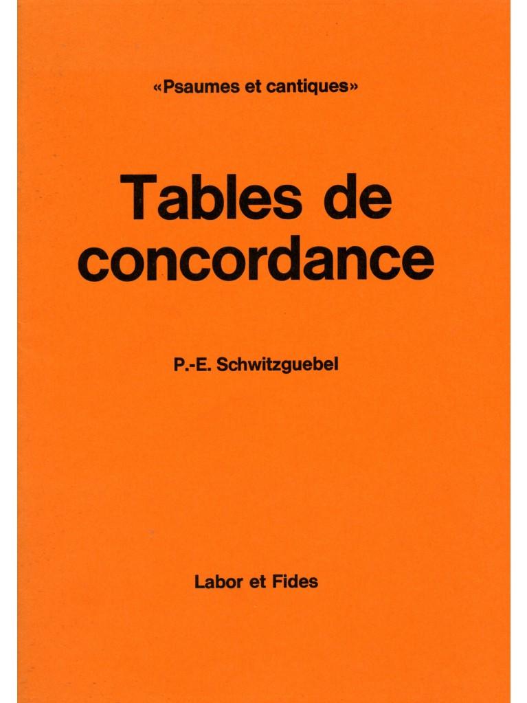 Psaumes et cantiques : tables de concordance