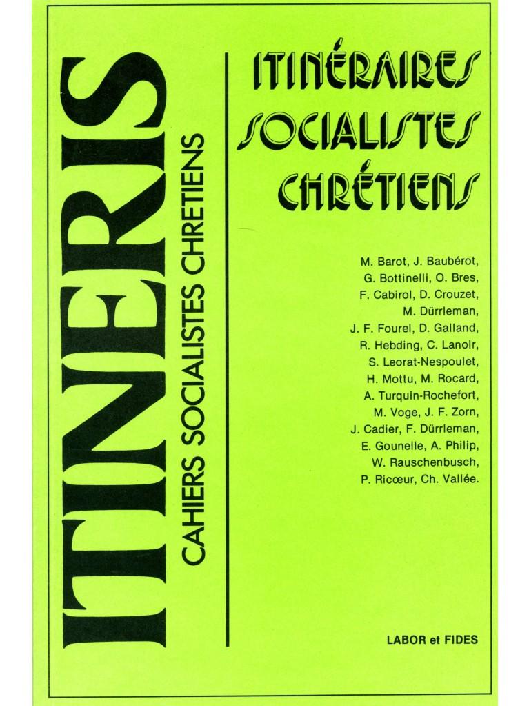 Itinéraires socialistes chrétiens